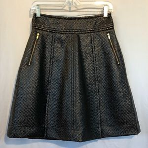 Banana Republic black faux leather skirt.